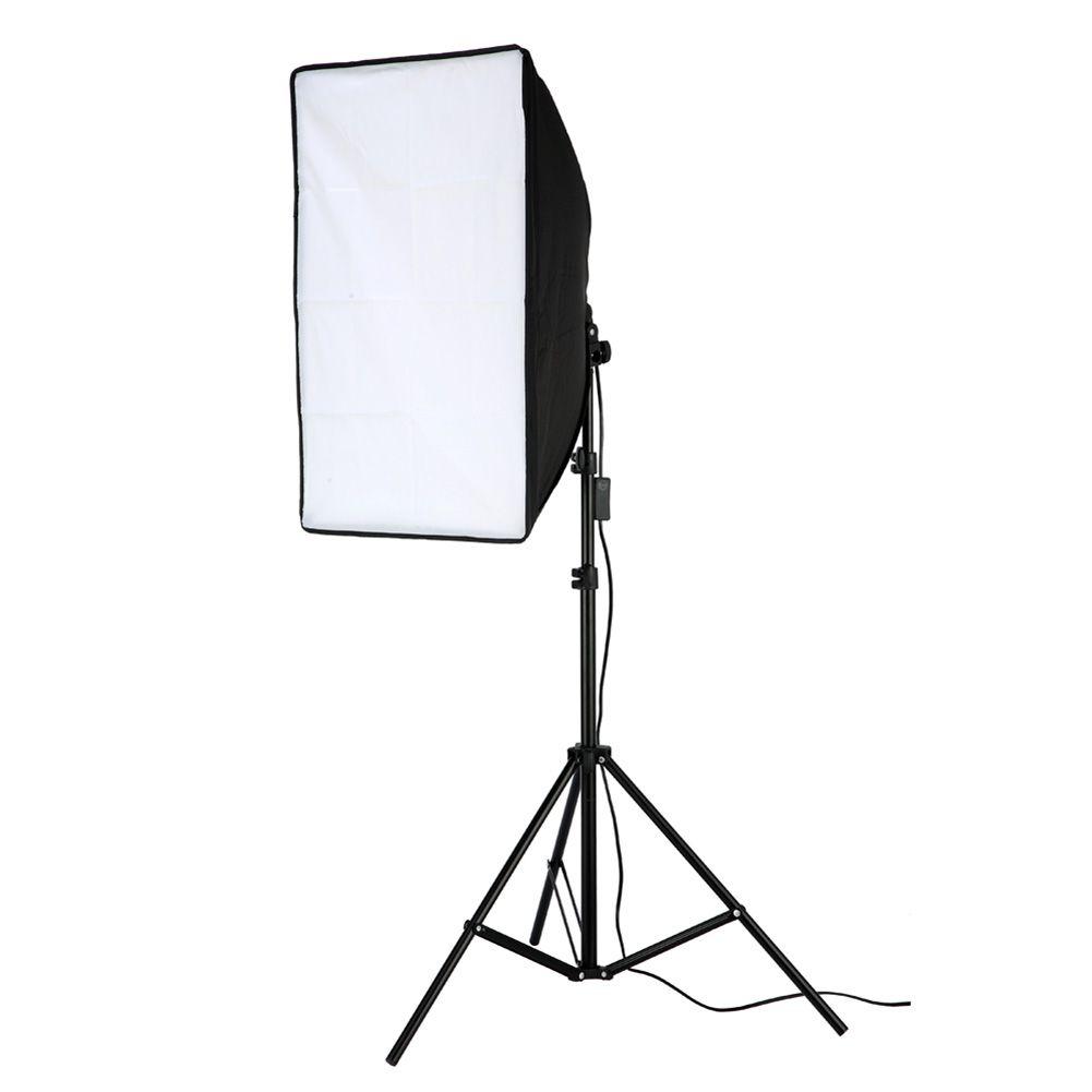 Photographic Equipment 50x70cm Softbox Soft Box +45W Lamp+ 2m Light Stand For Portraitist Photography Studio Photo