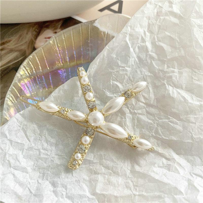 Silber und Perlen Haarschmuck Haarspange Haarspange Haarnadel Pearl White Schwarzes Haar Pin Parel Haarstuk Bruiloft pPbUc