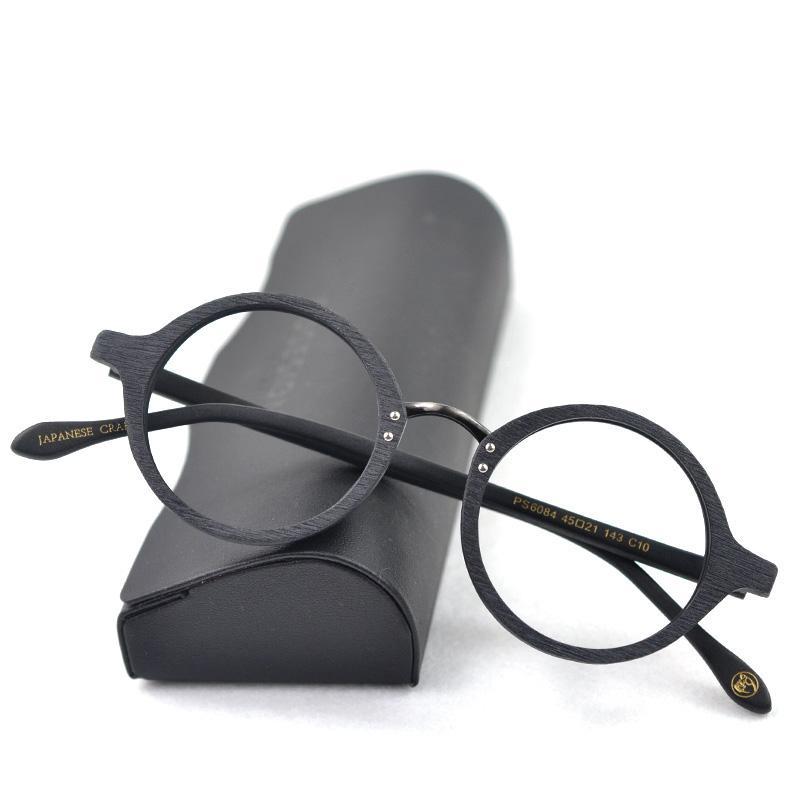 Marco óptico lente redondo lectura clara anteojos hombres espectáculos marcos receta receta hombres madera gafas gafas ugugei