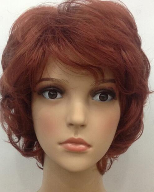 WIG Fox Red Women Ladies Daily pelusa mullida sintética Hivision