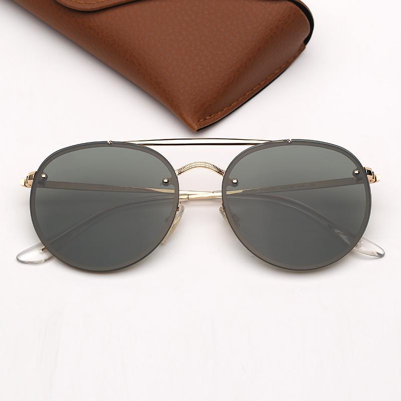 Rund Designer-Sonnenbrillen Fashion Marken-Sonnenbrille der Männer Frauen Sun-Glas Des Lunettes De Soleil UV400 Schutz mit freier Ledertasche