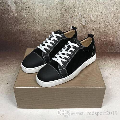 Erkekler için zarif kırmızı alt sneaker ayakkabı, kadınlar lüks moda rahat yüksek kalite yürüyüş CLshoes Açık Eğitmenler