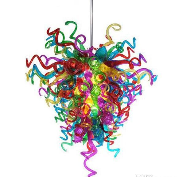 Colorful Modern Pendant Lamps Handmade Blown Glass Chandelier Hanging LED Chandelier Lighting for New House Decoration