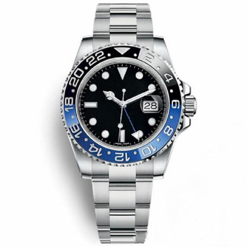 Melhor qualidade luminosa de pulso Montres De Luxo GMT Automático Mecânica Movimento Homens Mens Sports Watch Watches