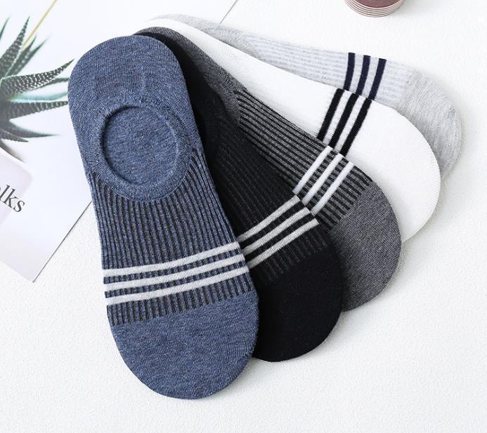 Womens Cotton Mens Super Low Invisible meias com malha de ventilação com Anti-Slip Gel Heel aperto não derrapante Plano Ankle Sock Chinelos fz0396