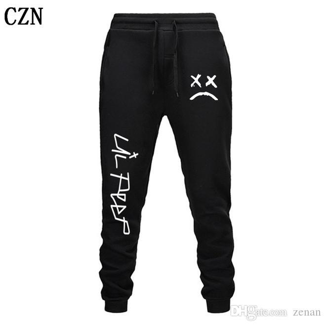 Envío gratuito Lil pío Pantalones Hip Hop Loose pantalón Hombres / Mujeres gimnasios pantalones pantalones casuales pantalones del basculador del basculador EL-1