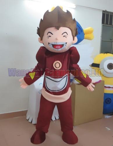 Branche de haute qualité Guerrier Héros mascotte Costume Carnival Parade Qualité Clowns activité fête d'Halloween Fancy Outfit Livraison gratuite