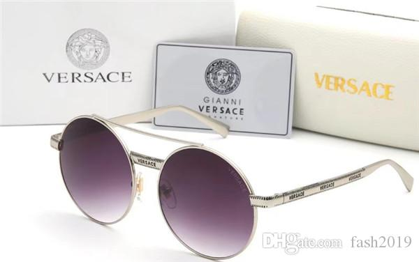 The latest best-selling fashion designer sunglasses metal combination frame top quality anti - uv400 mirror can be wholesale nobox