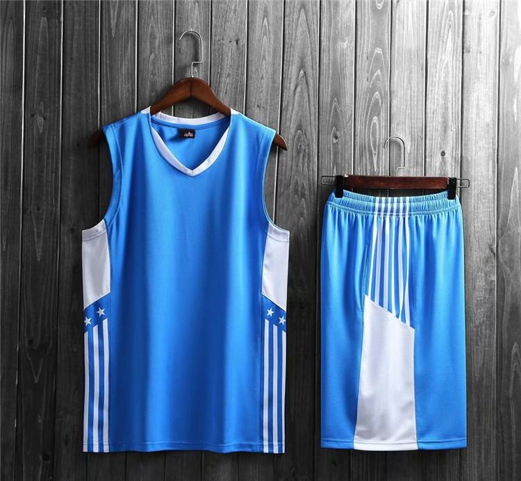 Nouveau style de basket-ball Ensembles uniformes de sport Jersey pour les hommes 46