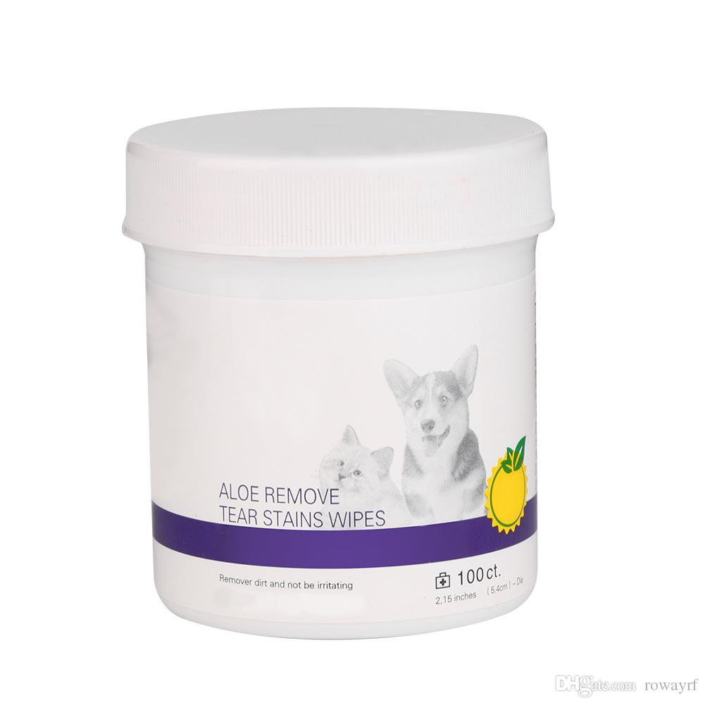 الحيوانات الأليفة تنظيف المسحات الكلب ويت اللوازم منشفة الاستمالة المسيل للدموع مزيل للبقع خال من الكحول (100 المسحات / علبة)