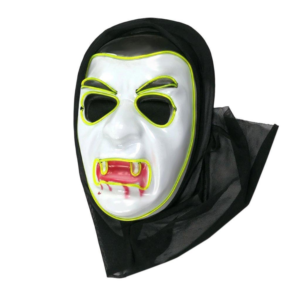 Halloween Vampire Gleamy Carnival Mask Series Horrible Danse Parties décoratives Electro luminescentes Masque élégant