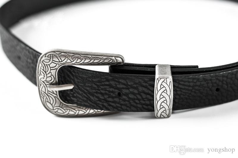 Mode Frauen Dame Mädchen Vintage Metallschnalle Boho Leder Gürtel Bund hochwertige marke taille gürtel Vintage schwarz
