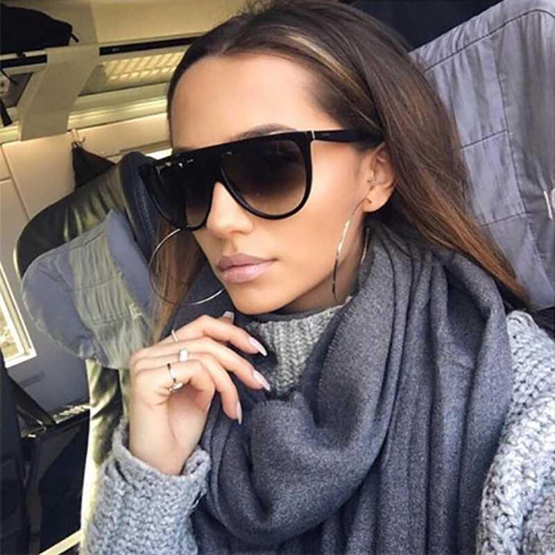 DCM Квадратные Солнцезащитные очки Женщины Крупногабаритные Designer Vintage Gradient ВС очки Lunettes Ким Кардашян