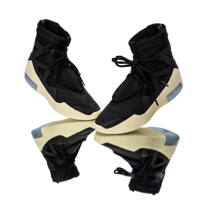 2019 Of God Yeni Fear 1 SİS Erkekler Kadınlar Yüksek Siyah Beyaz Gri Yastık Casual Sneakers Ayakkabı 32
