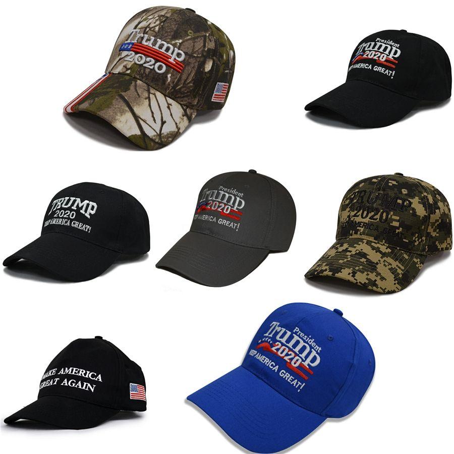 Nuevo Presidente de Trump 2020 Sombrero bordado de la gorra de béisbol del sombrero presidente Trump 6 colores para el envío libre # 951