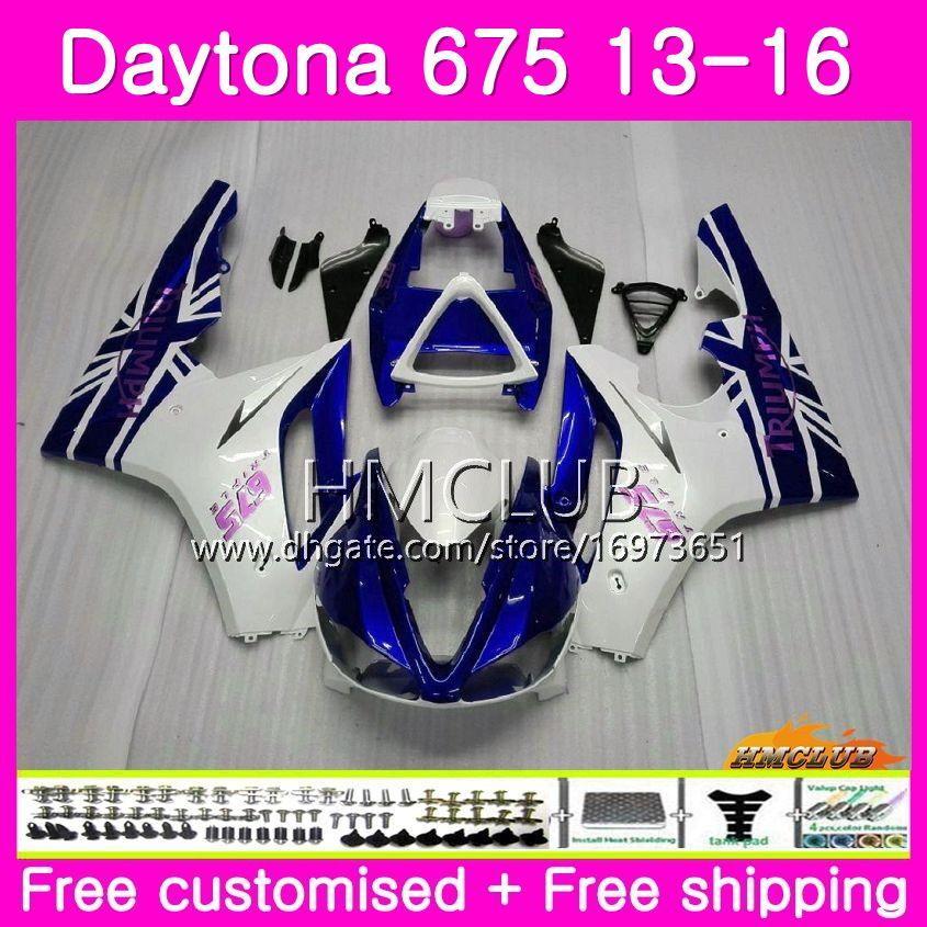 Kit carrosserie Pour Triumph Daytona 675 13 14 15 16 Carrosserie 45HM.2 Daytona-675 Daytona 675 Daytona675 2013 2014 2015 2016 Carénages Soldes Bleus