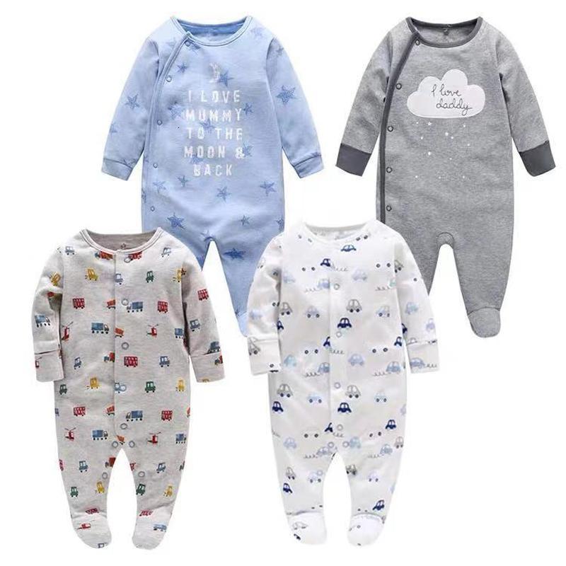 Baby baby Boys Girls Sleepers Pajama Babies Babies 2 PCS / lot Infant Longle Sleeve 0 3 6 9 12 Month Cloths V191128