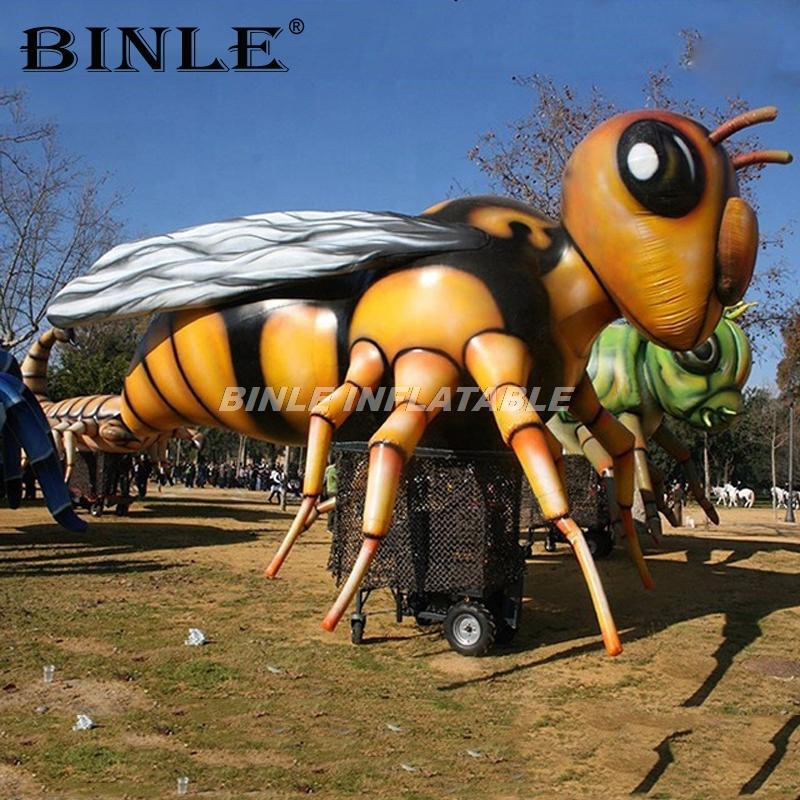 Customized realistic fly giant inflatable hornet model big buzz inflatable wasp insect balloon for event decoration