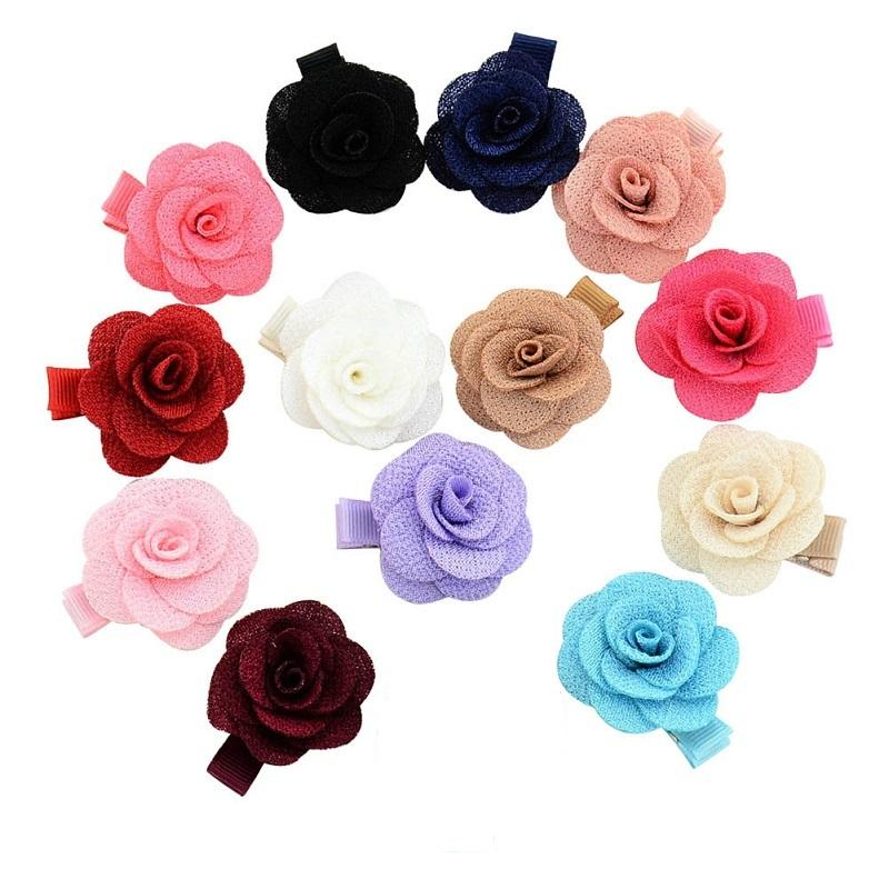 kid girly cute flower hair clips pin clamps floral accessories barrettes choose