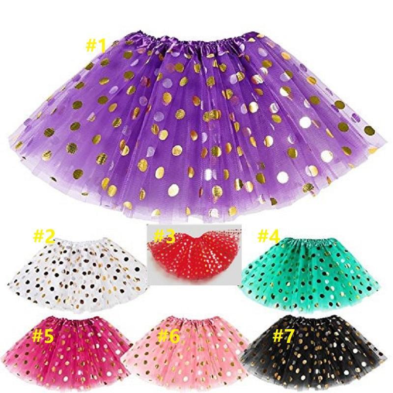40pcs Baby Girls Gold Polka Dot Tutu Skirt Baby Clothes Tutus Dress Kids Skirts Toddler Skirts Red Infant Pettiskirt Newborn by Hope12