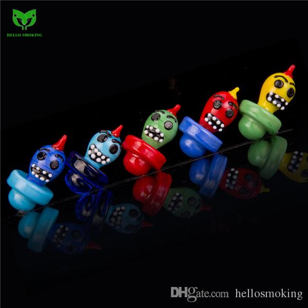 Chick Monster Solid Glass Bubble Carb Cap Hat 26mm for Flat Top Quartz Nail Glass Bong Smoking Oil Wax Rig 905