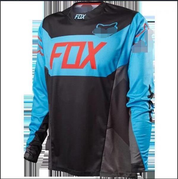 FOX course costume, course polyester costume descente moto hors route à séchage rapide T-shirt descente équitation à manches longues en tissu de voiture à manches longues