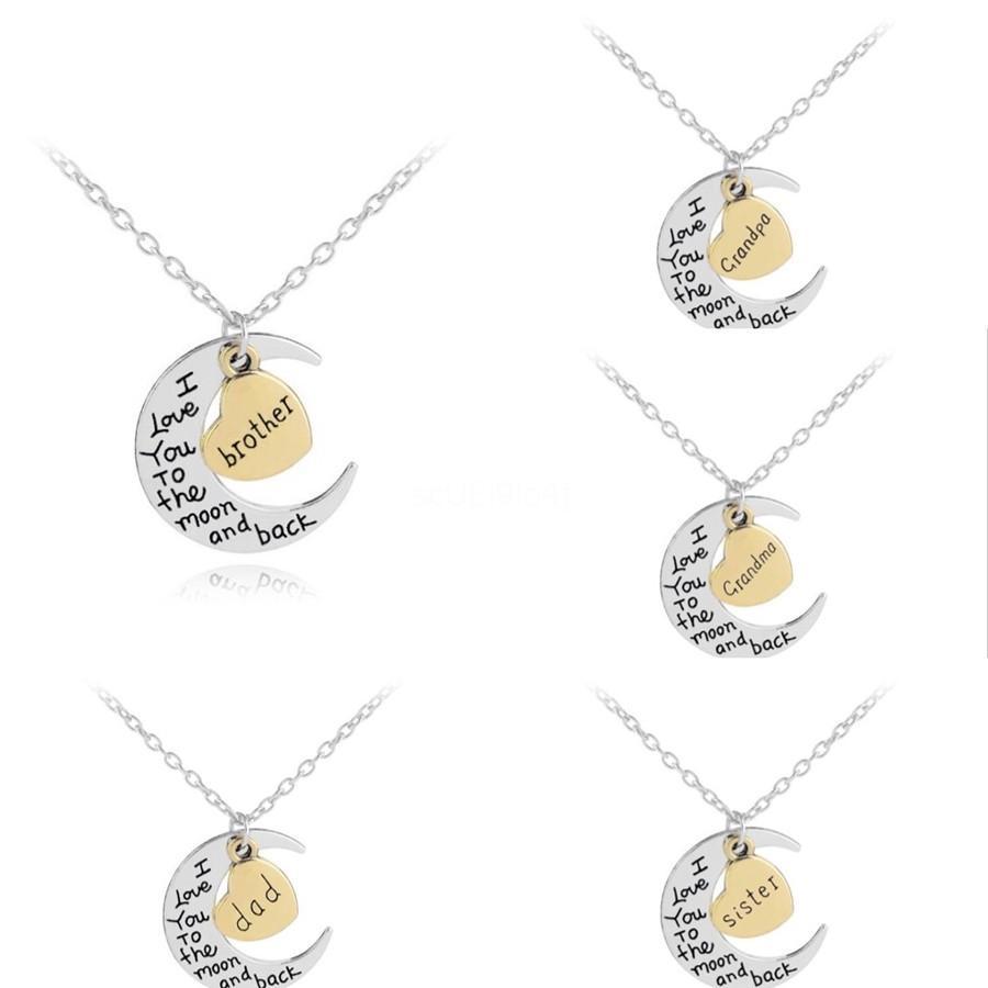 Carta pingente Moda Daung Mulheres Rose Gold Daung Colar Moda Sliver Plated jóias pingente de cadeia longa colares # 597