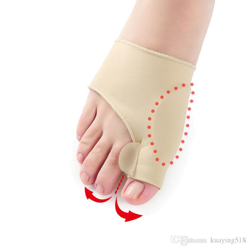 Hallux Valgus-Zahnspange aus Silikon Große erpresste orthopädische Korrektur Große erpresste Socken Toes Separator Fußpflege-Werkzeug 1 Paar