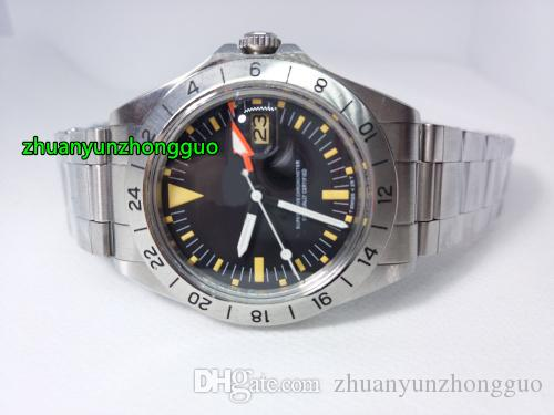 Topselling Luxury Mens Vintage Explorer II 2 Steve McQueen 1655 Steel 40mm 1979 Edition R-GMT Ref.1972 Asia 2813 Movement Automatic Watches