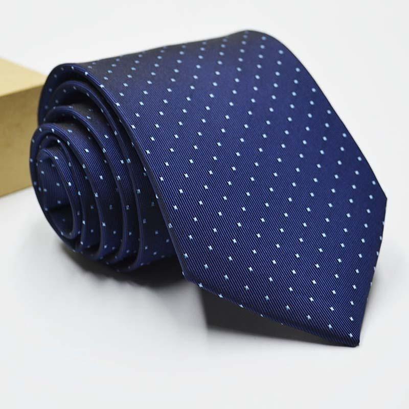 Mode 8 cm cravates pour hommes cravate de couleur unie Slim collier amovible Jacquard Designer Fashion hommes Business Shirt Accessoires Vente C19011001