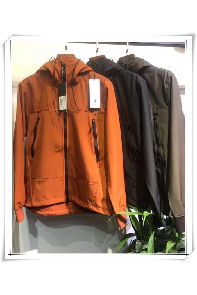 CP topstoney EMPRESA 2019 primavera y el otoño pierden Europea y la parte superior de la chaqueta de sombrero americano estilo de los hombres de los vidrios de felpa y engrosadas 3 colores