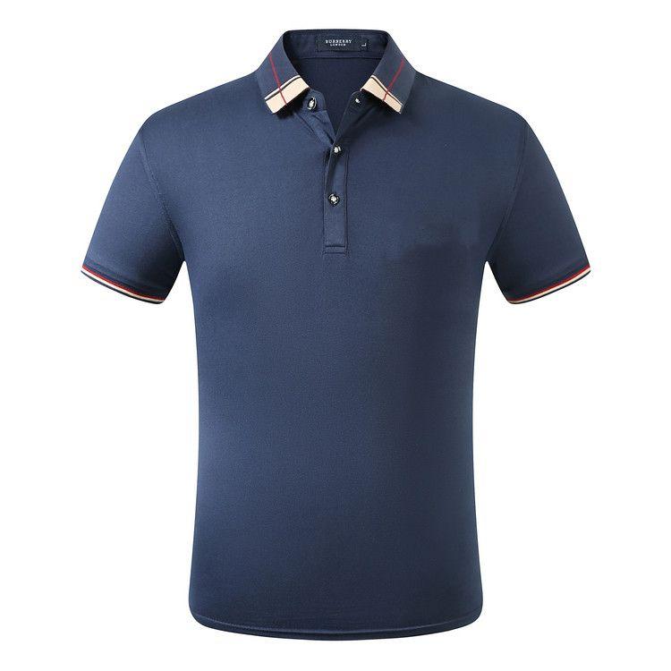 Hot Summer Cotton marque Polo ture d'impression couleur de collier rues de haute qualité Livraison gratuite noir blanc