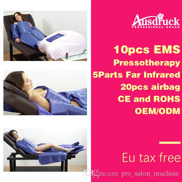 3in1 Pressotherapy Far Infrared fat dissolving air pressure lymphatic drainage EMS massager Slimming weight loss device