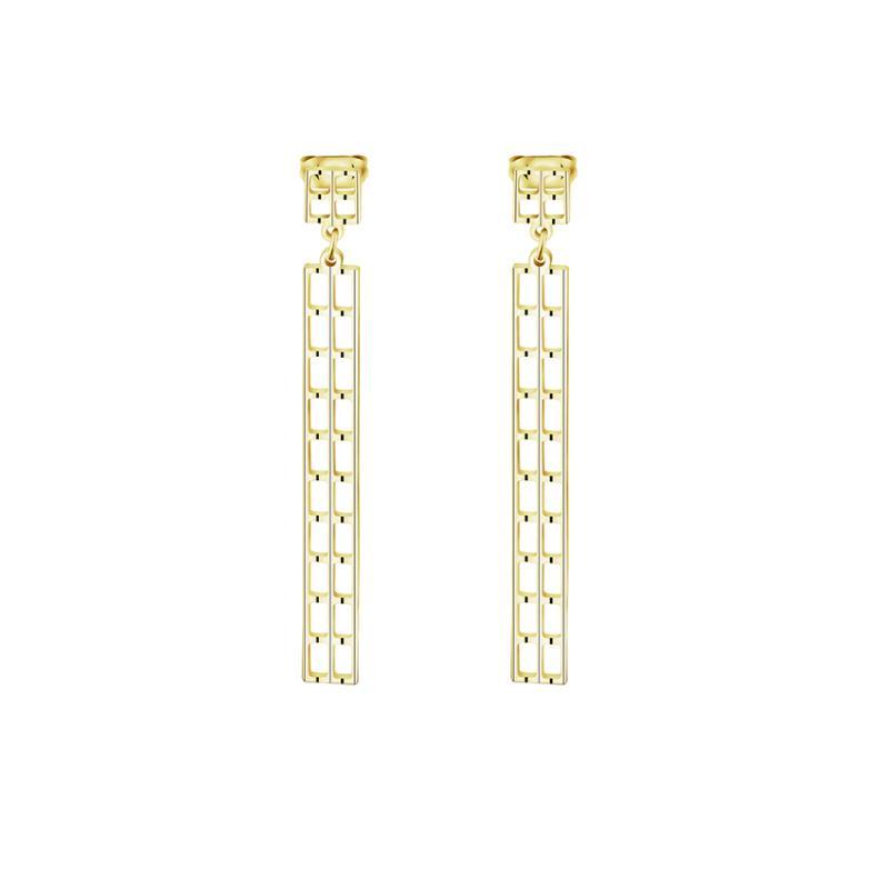 Gioielli Fashion-Long Bar orecchini per le donne Moda Boucle d'oreille in acciaio inox Orecchino partito regalo 2017