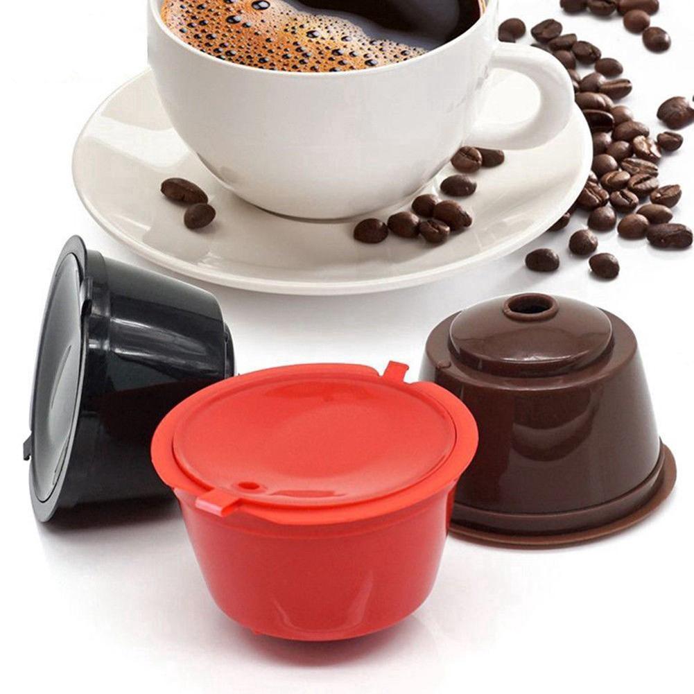 Filtro Dolce Gusto taza de café de la cápsula del vaso reutilizable recargable de café de filtro Cápsula Nestlé Duqus Enfriar cápsula de café de filtro de malla