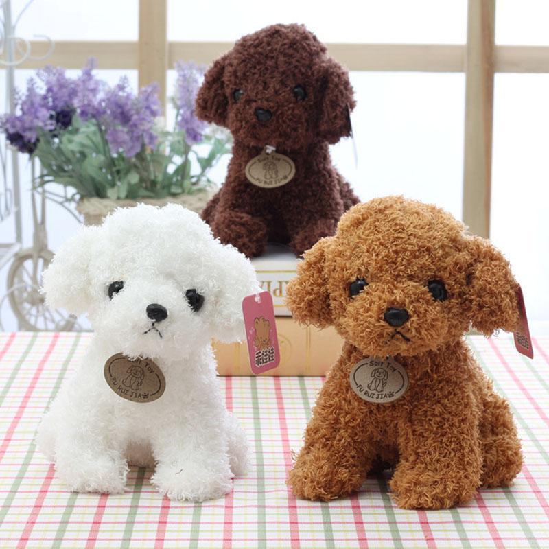 20CM kleinen Welpen füllte Plüsch-Hunde-Spielzeug-Weiß Braun Hellbraun weiche Puppen Baby-Kind-Spielwaren für Kinder Geburtstags-Party-Geschenke Z0479