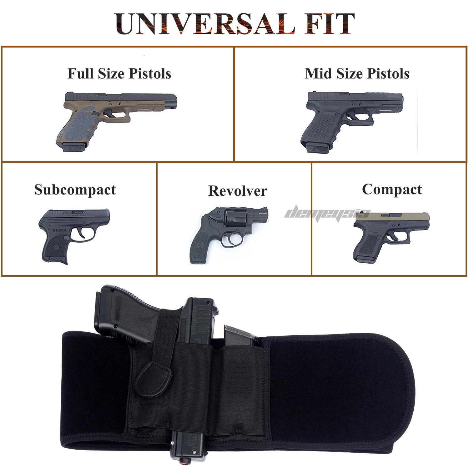 Tactical Universal Concealed Carry Pistol Gun Clip Holster fits All Revolvers