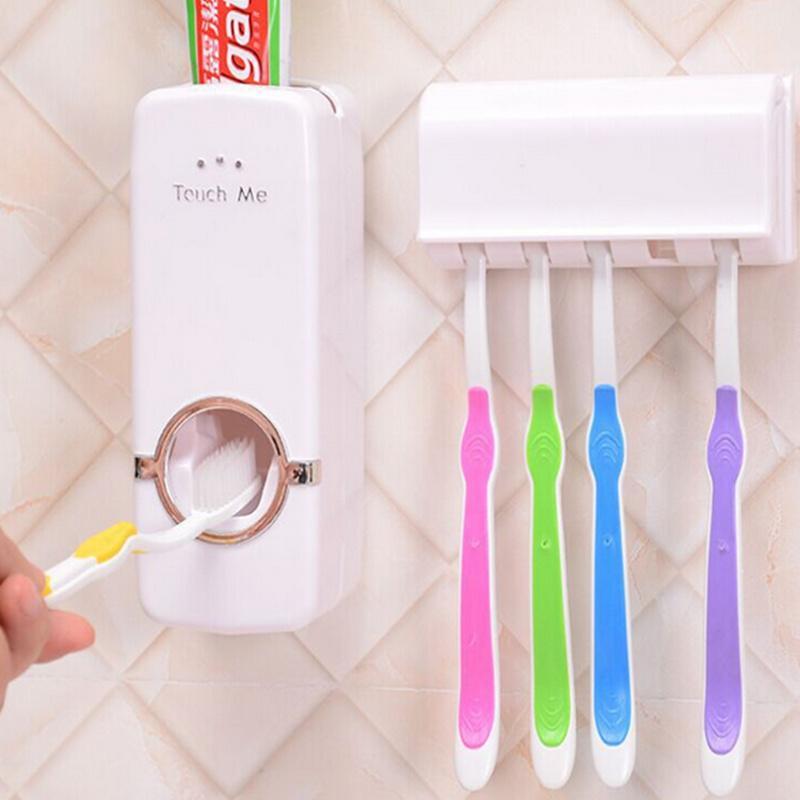방진 칫솔 홀더 치약 스 퀴저 무료 배송! 욕실 제품 자동 치약 디스펜서