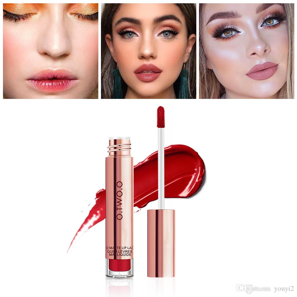 O.TWO.O 12colors Best Sale Hot Cosmetics Makeup Lip Gloss Long Lasting Waterproof Easy to Wear Matte Lipstick DHL