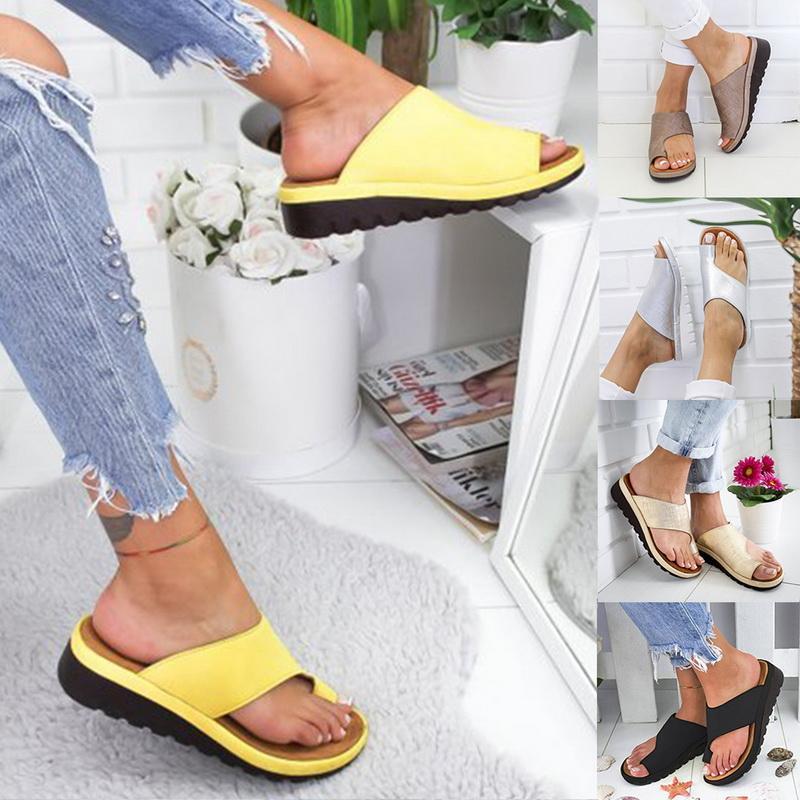 Verão Mulheres Sandals costura Sandálias Ladies Open Toe Calçados casuais Platform Wedge Sapatos Slides Praia Dropshipping