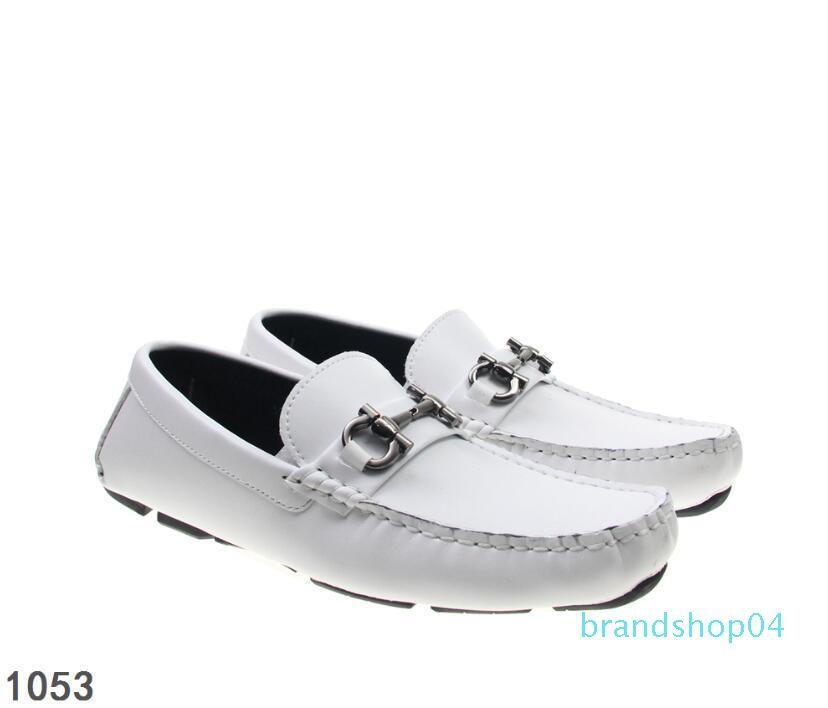 Ручной работы классика мужская Белый повседневный костюм обувь металл Horsebit пряжки дизайнер мужчины квартиры ленивый обувь мокасины Hombre 40-46L03