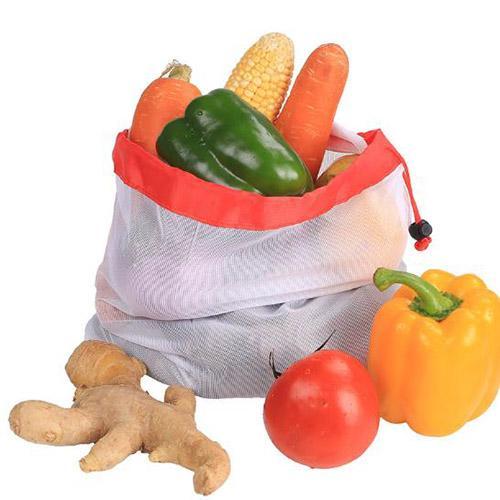 Kullanımlık Örgü Çanta Torba Üretmek Yıkanabilir Çevre Dostu Çanta Bakkal Alışveriş Depolama için Meyve Sebze Oyuncaklar Sundries
