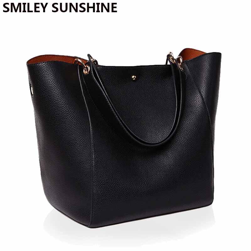 حقائب جلدية حقيقية اصلي المرأة الكتف حقيبة جلدية عالية الجودة حقيبة يد أنثى الكبير حمل اليد للسيدات للمرأة 2019