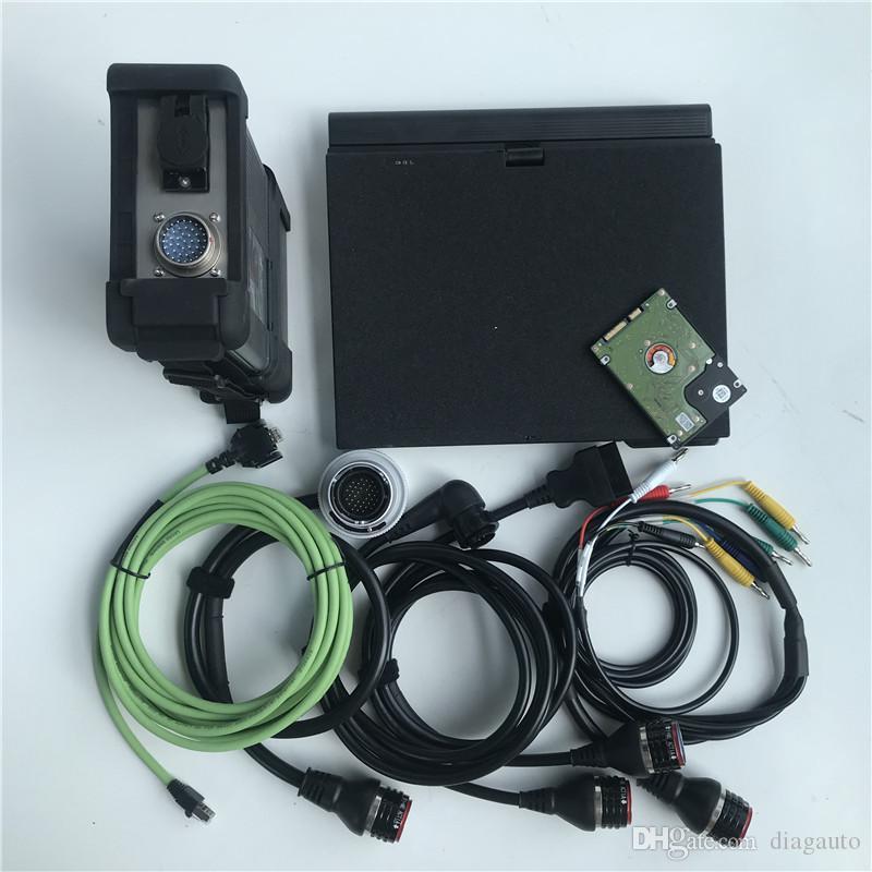 Haute qualité MB Star C5 SD Connect C5 X / DTS 2020.06v Star Diagnosis Soft-Ware disque dur avec un ordinateur portable X200t ensemble complet de diagnostic PC 4 g