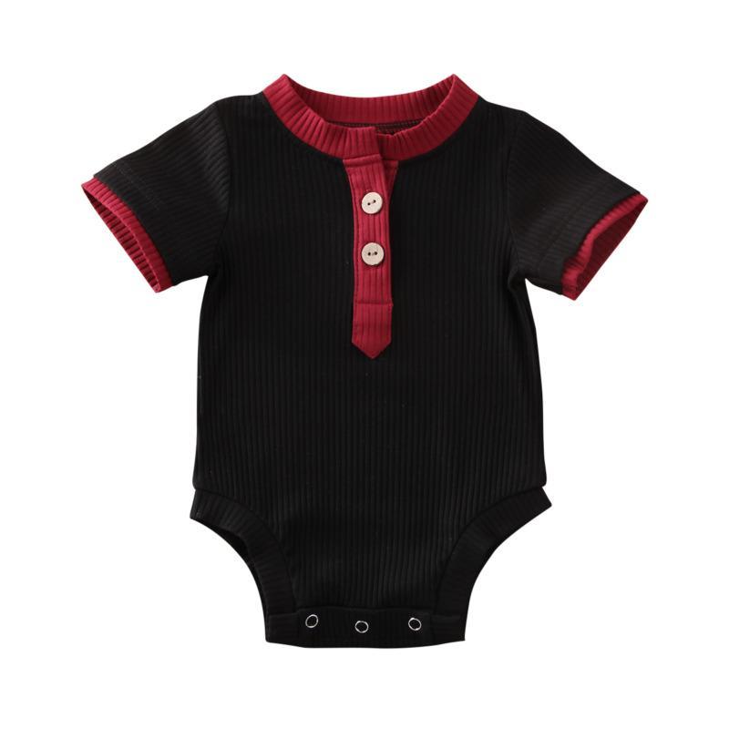 Установки одежды Baby Boy Girl Romper Bodysuit Простые комбинезоны Pajamas Летние наряды