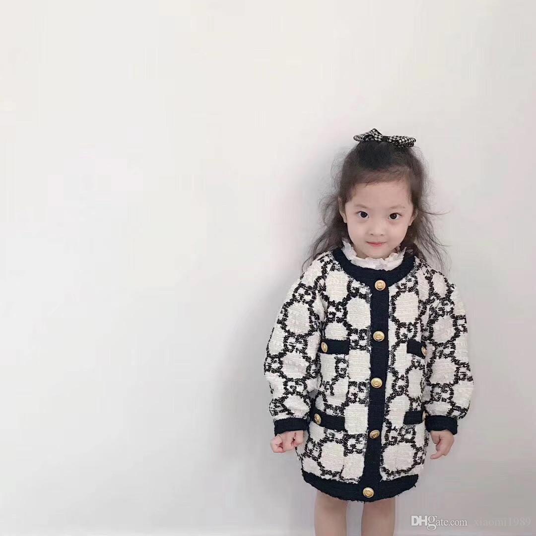 아기 겉옷 유아 여자 코트를위한 패션 소녀 자켓 두꺼운 따뜻한 어린이 가을 겨울 의류 어린이 롱 자켓 (90) ~ (150)