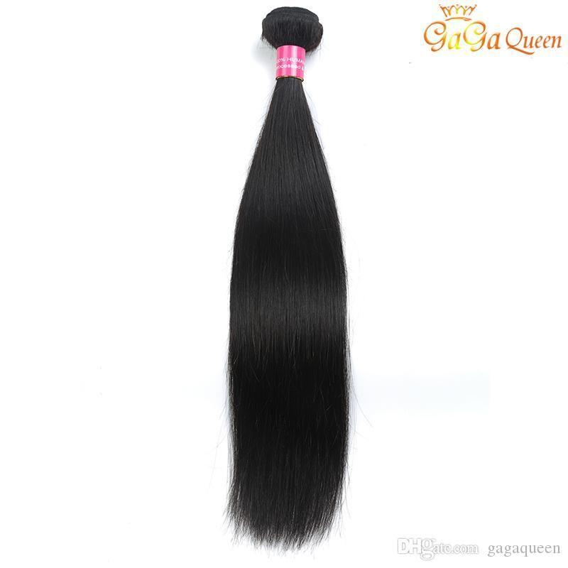Single Brazilian Straight Virgin Hair 1 Bundle 100g Straight Human Hair Extensions Brazilian Straight Hair Weave Bundles