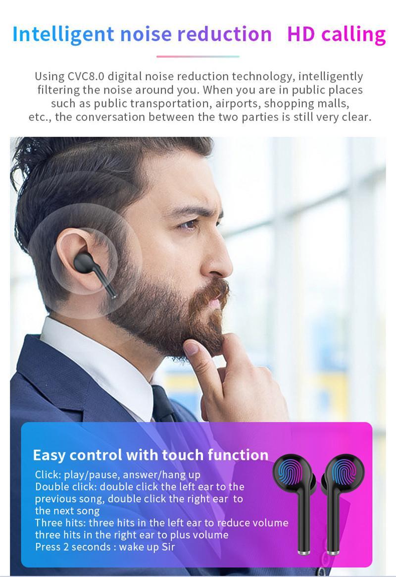 TW40 Twins Touch Control sans fil Bluetooth écouteurs casque sans fil Bluetooth 5.0 Pour Oreillettes tous les smartphones