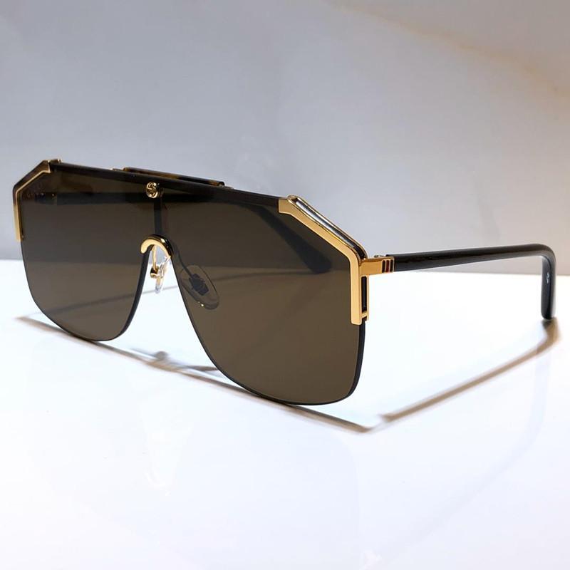 0291 Lunettes de soleil pour homme femme masque mode unisexe lunettes de soleil demi-cadre revêtement miroité jambes en fibre de carbone d'été de style 0291S