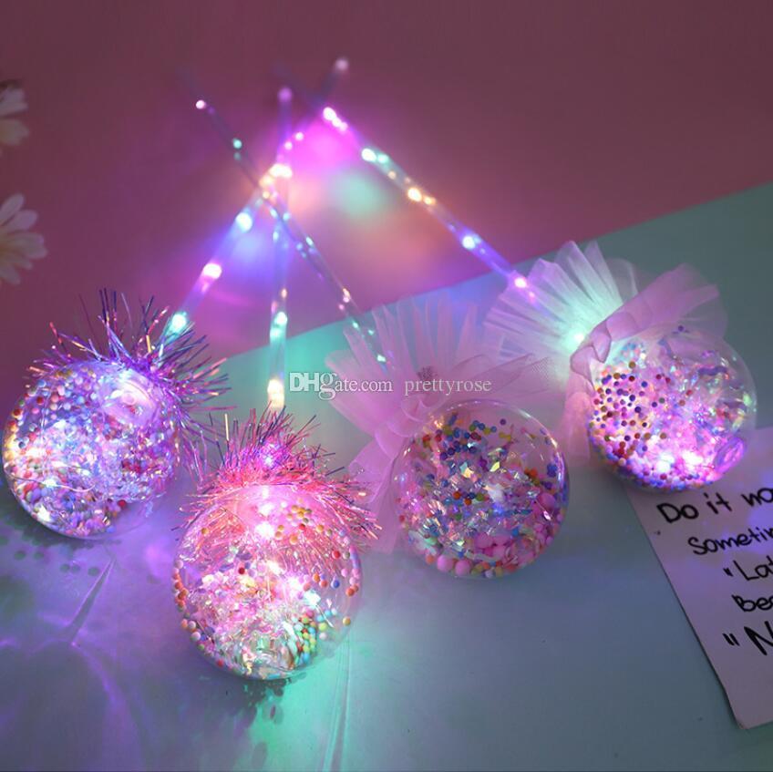 Light-up Magic Ball Baguette Glow Stick Sorcière Assistant LED Rave Toy Baguettes Magiques pour les anniversaires Halloween Chirstmas Décor jouets pour enfants cadeau